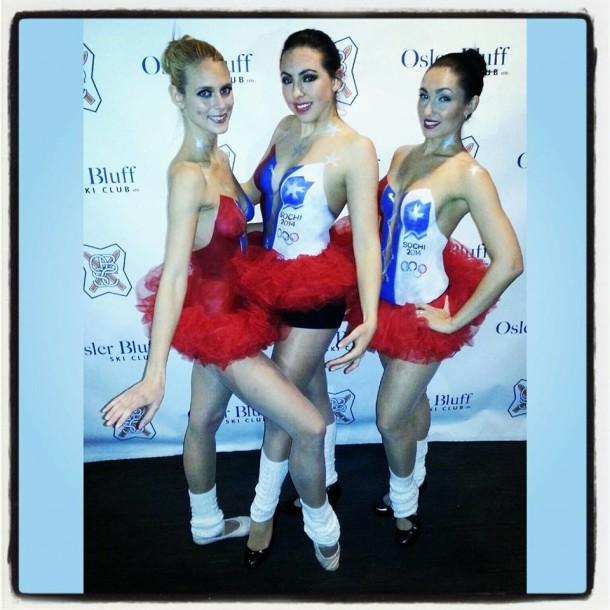 Russian Sochi Body Painted Ballerinas