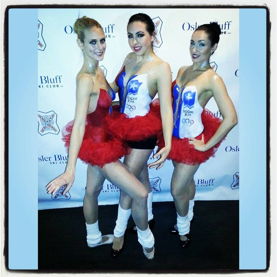 Russian Sochi Body Painted Ballerinas